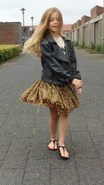 Rocking Zoë in haar outfit of the day