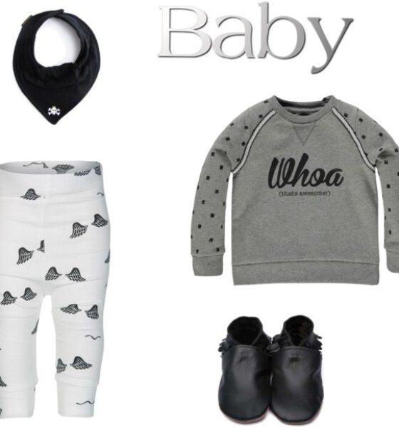Monochroomtastisch deze baby outfit