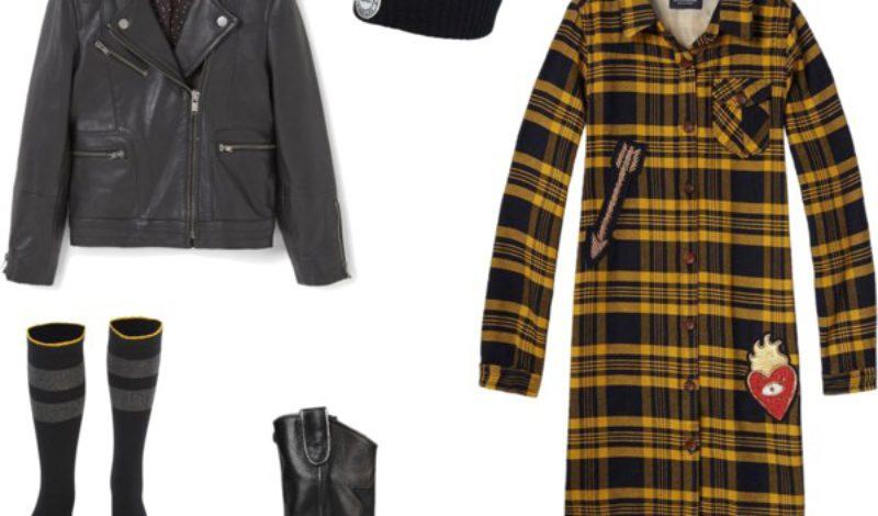 Scotch R'Belle tartan overhemd jurk