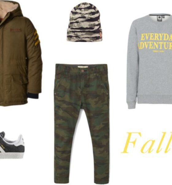 Falltastic deze jongens outfit in army trend