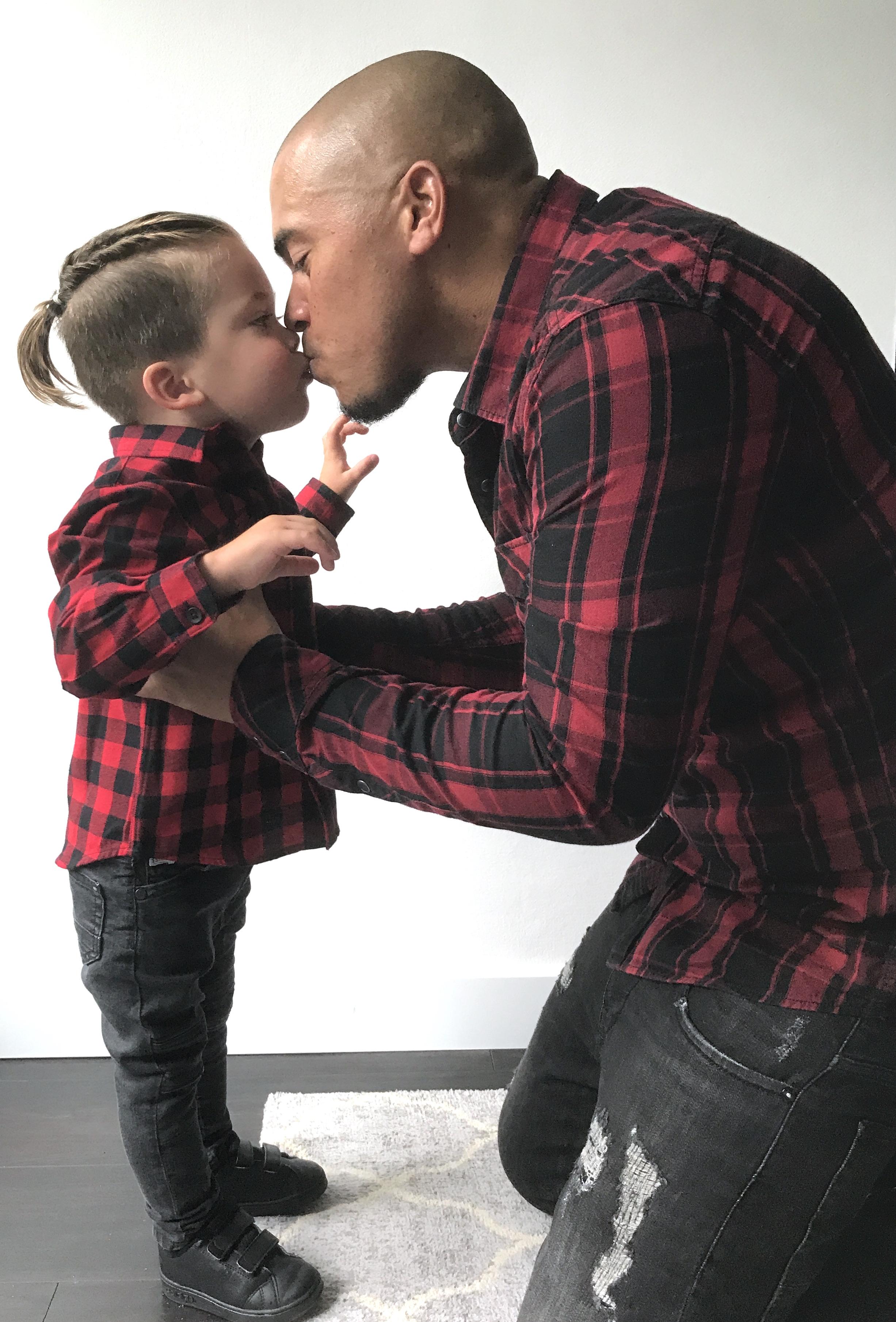 Twinning outfit met papa