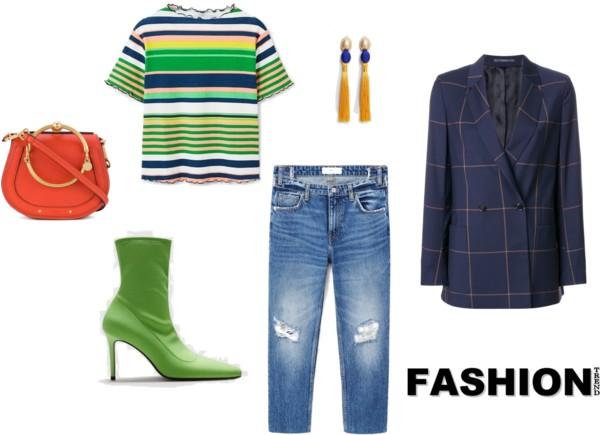 Chique look met trend items