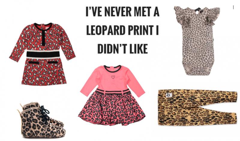 Leopard print voor de allerkleinsten