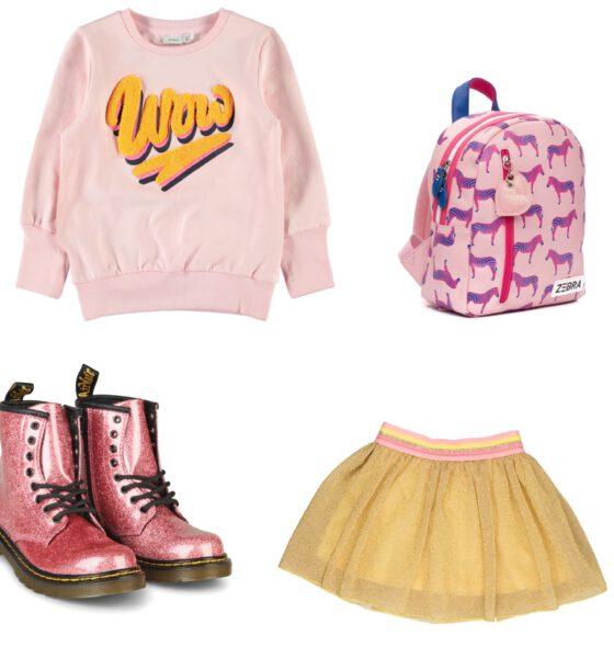 In een lente outfit naar school
